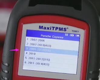 Autel-TS601 test-TMPS-for-Porsche-Cayenne-2010 (5)